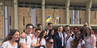 """תלמידי אורט """"שרת"""" נצרת עילית נבחרו לקחת חלק במפגש בכנסת לקראת """"יום האחדות"""""""