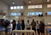 קבוצת טניס שולחן לאזרחים ותיקים