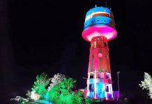 """30 גופי תאורה עליהם תשלוט מערכת ירוקה לסביבה יהפכו את """"המגדל"""" האייקון של מגדל העמק לאטרקציה מרהיבה"""