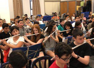 ילדי עפולה מתכוננים לשירת ההמונים
