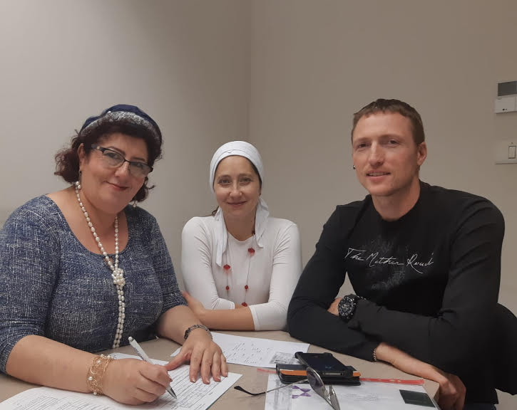 החתונה המרגשת של גרי הצדק , אלכסיי משה ואולגה אורלי סובולוב