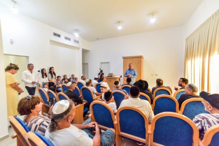 אירוע פתיחת בית הכנסת בשכונת אכזיב ים וקהילה
