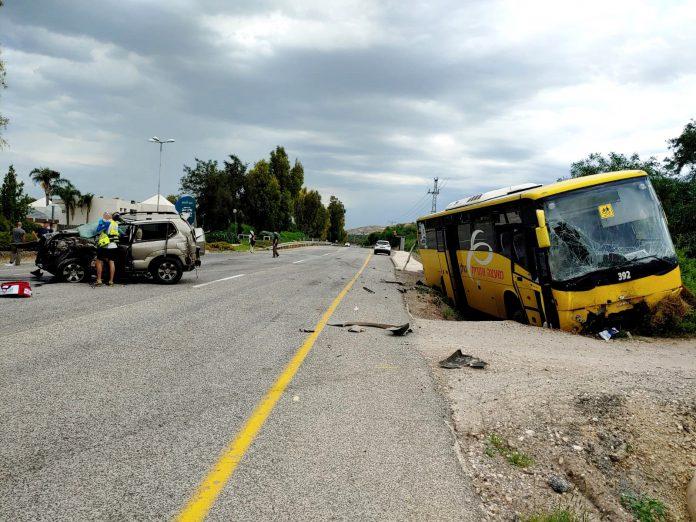 תאונה קשה אירעה הבוקר סמוך לעין גב