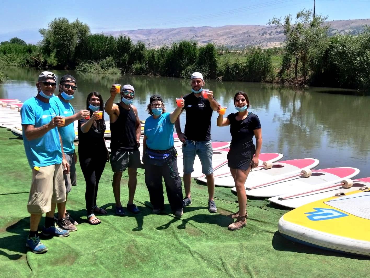 קבוצה ראשונה לאחר הקורונה בילתה באתר השייט והאטרקציות אינדי פארק על גדות הירדן