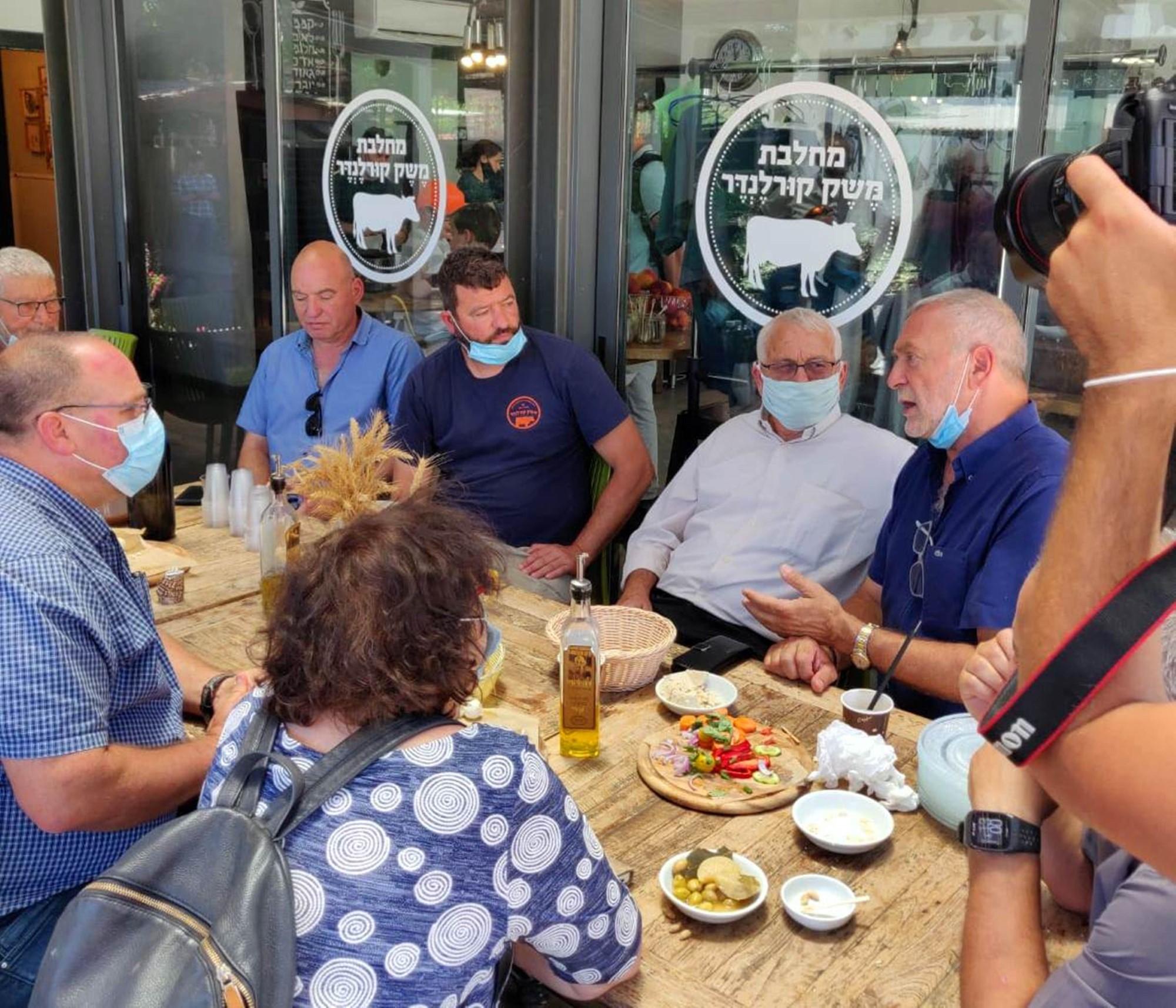 ביקורו של שר החקלאות החדש, אלון שוסטר בגליל
