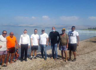 """הרב גבריאל זוהר מ""""טוהר המחנה"""" הגיע לסיור עם נציגי איגוד ערים כינרת"""